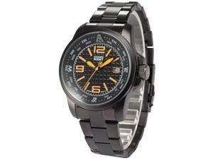 Shark Army Mens SAW132 Military design Date Display Steel Band Quartz Watch