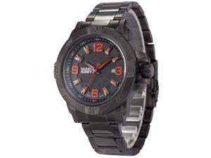 Shark Army Mens SAW147 Military Steel Band Date Display Quartz Watch