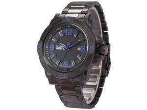 Shark Army Mens SAW149 Military Steel Band Date Display Quartz Watch