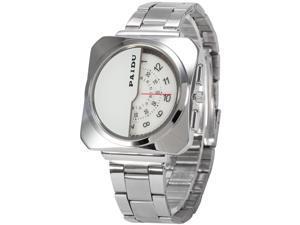 Timebear PHN022 Fashion Mens Quartz Watch Analog Square Case Alloy Band