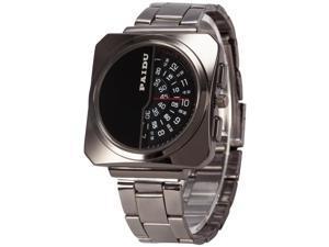 Timebear PHN023 Fashion Mens Quartz Watch Analog Square Case Alloy Band