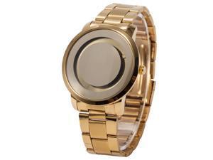 Timebear PHN026 Fashion Simple Mens Quartz Watch Gold Case Alloy Band