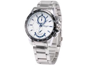 Timebear Mens PHN074 Analog White Dial Silver Alloy Band Quartz Watch