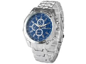 Timebear Mens PHN068 Analog Blue Dial Silver Alloy Band Quartz Watch