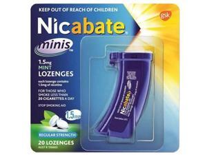 Nicabate Mini Mint Lozenges 1.5 Mg 20s