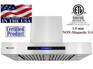 """XtremeAir PX06-W36, 36"""" Wide, 900 CFM, Easy Clean swing-able baffle Filters, Stainless Steel, Wall Mount Range Hood"""