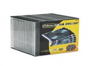 Slim Jewel Case Clear/Black 25/Pack