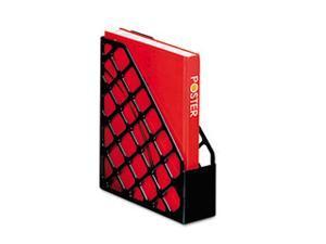Recycled Plastic Magazine File, 11 3/4 x 3 x 9 1/2, Black, 12/Carton