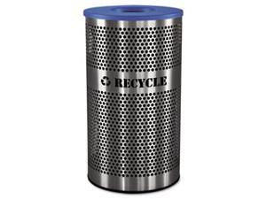 Stainless Steel Recycle Receptacle&#59; 33 gal&#59; Stainless Steel