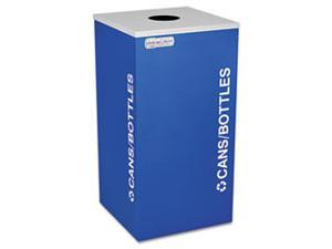Kaleidoscope Collection Recycling Receptacle, 24 gal, Royal Blue