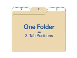 Findit File Folders, 1/3 Cut, 11 Point Stock, Letter, Manila, 80/Pack