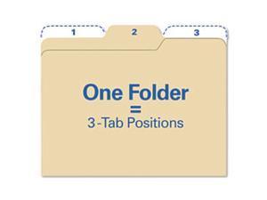 Findit File Folders, 1/3 Cut, 11 Point Stock, Letter, Manila, 80/Pack