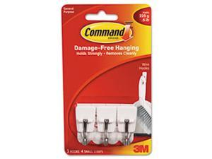 3M 17067 Command Small Wire Hooks 3 hooks, 4 strips