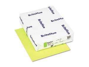 Mohawk 104034 Brite-Hue Color Copy/Laser/Inkjet Paper  Ultra Lime  24lb  Letter  500 Sheets