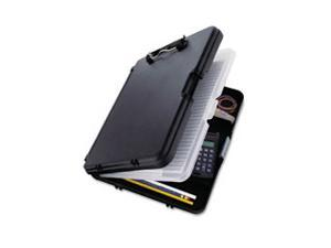 WorkMate II Storage Clipboard, 1/2 Capacity, Holds 8-1/2w x 12h, Black/Charcoal