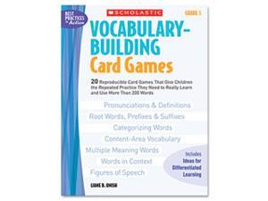 Vocabulary Building Card Games, Grade Five, 80 pages