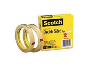 3M 6652P1236 665 Double-Sided Tape  .5 X 1296  3   core  transparent  2 Rls