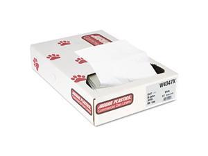 Industrial Strength Commercial Can Liners, 56 gal, .9 mil, White,100/Carton