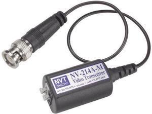 NVT NV-214A-M Single Channel Passive Video Transceiver w/9-inch Mini-Coax Lead
