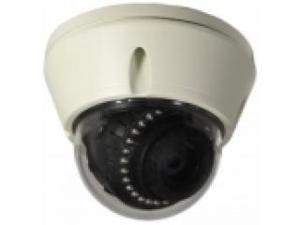 Camera, Fixed dome, 700TVL, 2.8-12mm VF, TDN, AI lens, IR-LEDS, 12VDC/24VAC, White case