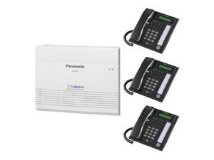 Panasonic pack with (1) TA824 KSU and (3)T7731B phones