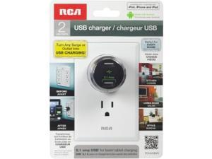 RCA PCHUSB4R USB Home and Travel Charger