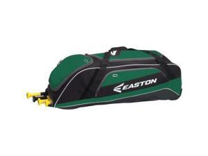 Easton Travel/Luggage Case (Roller) for Baseball Bat - Black, Green - Polyester, Ripstop