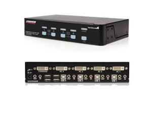 4 PORT HIGH RES USB DVI AUDIO KVM SWITCH