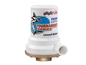 Rule Tournament Series Bronze Base 1600 GPH Livewell Pump (209B)
