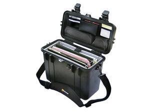Pelican 1430 Top Loader Case w/Padded Office Divider Set & Lid Organizer - Black (1430-005-110)