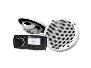 FUSION MS-RA50KTS Bundle w/MS-RA50 Receiver & MS-EL602 Speakers - (Pair) White (MS-RA50KTS)