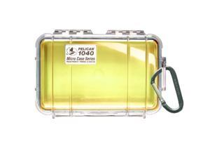 Pelican 1040 Micro Case w/Clear Lid - Yellow (1040-027-100)