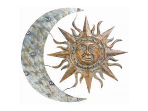 """GARDMAN 8415 Aztec Sun  and  Moon Wall Art - 26"""" L X 24"""" W"""