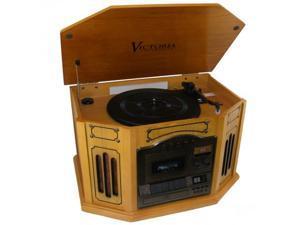 GRACE DIGITAL AUDIO GDI-TW3USBK Victoria Tunewriter-GDI-TW3USBK 7-in-One Stereo Entertainment Center (Oak)