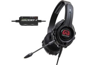 SYBA OG-AUD63082 GamesterGear Cruiser XB200 Headset / Stereo - Black - RCA, USB - Wired - 32 Ohm - 20 Hz - 20 kHz - Over-the-head - Binaural - Circumaural - 15.70 ft Cable