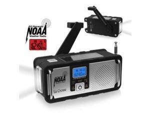 LA CROSSE TECHNOLOGIES 810-106 AM/FM/WB NOAA Weather Radio with Hand Crank and LED Flashlight