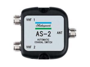 SHAKESPEARE SHA-AS-2 Automatic Coaxial Switch, MFG# AS-2, toggles two radios to one antenna when radio is transmitted. w/SO-239 connectors.