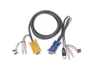 IOGEAR G2L5305U KVM USB Cable With Audio 15ft
