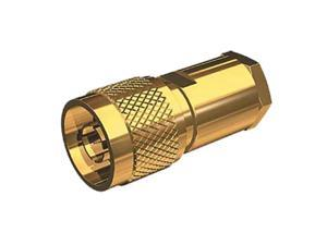 SHAKESPEARE SHA-NM-8X-G Gold-Plated Male N Connector, MFG# NM-8X-G, for RG-8X cable.
