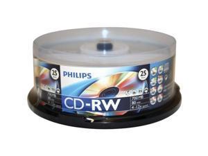 PHILIPS 700MB 4-12X CD-RW 25 Packs Disc Model CDRW80D12/550