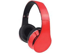 Supersonic IQ-215 RED IQ-215 High-Performance Stereo Headphones (Red)