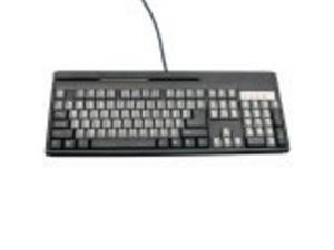UNITECH KP3700-T2UBE KEYBOARD  KP3700  SCANNER PORT (USB)  MSR (DUAL TRACK)  104 KEYS  USB  BLACK