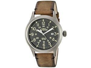 TIMEX TW4B017009J Timex Expedition Scout Metal - Brown Leather/Gray Dial