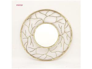 BENZARA 42159 Modish Round Metal Wall Mirror