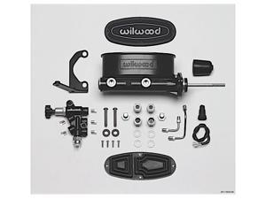 WILWOOD WLD261-13626-BK HV TANDEM M/C KIT W/ BRACKET  and  PROP VALVE-15/16IN BORE,BLACK-W/PUSHROD