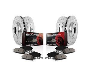 POWERSTOP PSBK3166 FRONT  and  REAR 1 CLICK BRAKE KIT W/ HARDWARE