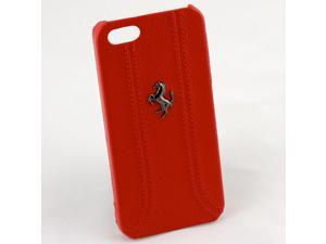 Ferrari iPhone 5 / 5S Red Leather & Stitching Case  CG Mobile Sealed FEFFHCP5RE