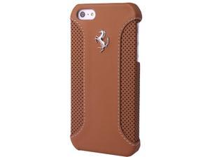 CG Mobile Ferrari Genuine Brown Leather Hard Case iPhone 5 / 5S  FEF12HCP5CA