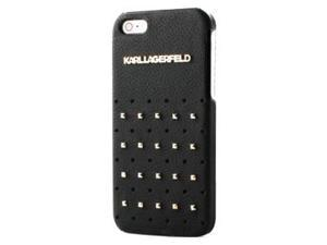 CG Mobile Karl Lagerfeld Black Leather Studs Hard Case iPhone 5 / 5S KLHCP5TRSB