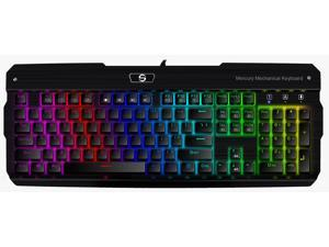 UtechSmart Mercury Full Color RGB Backlit Illuminated Mechanical Gaming Keyboard